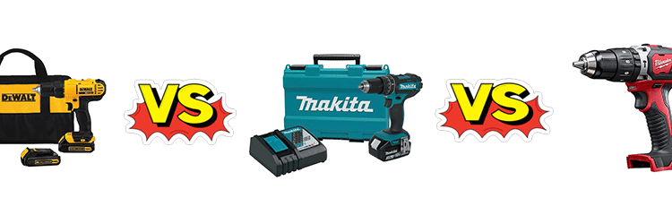 Dewalt Vs. Makita Vs. Milwaukee