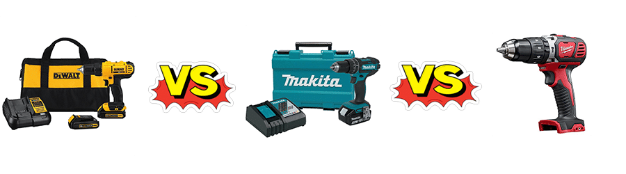 Dewalt Vs Makita Milwaukee Product Comparison