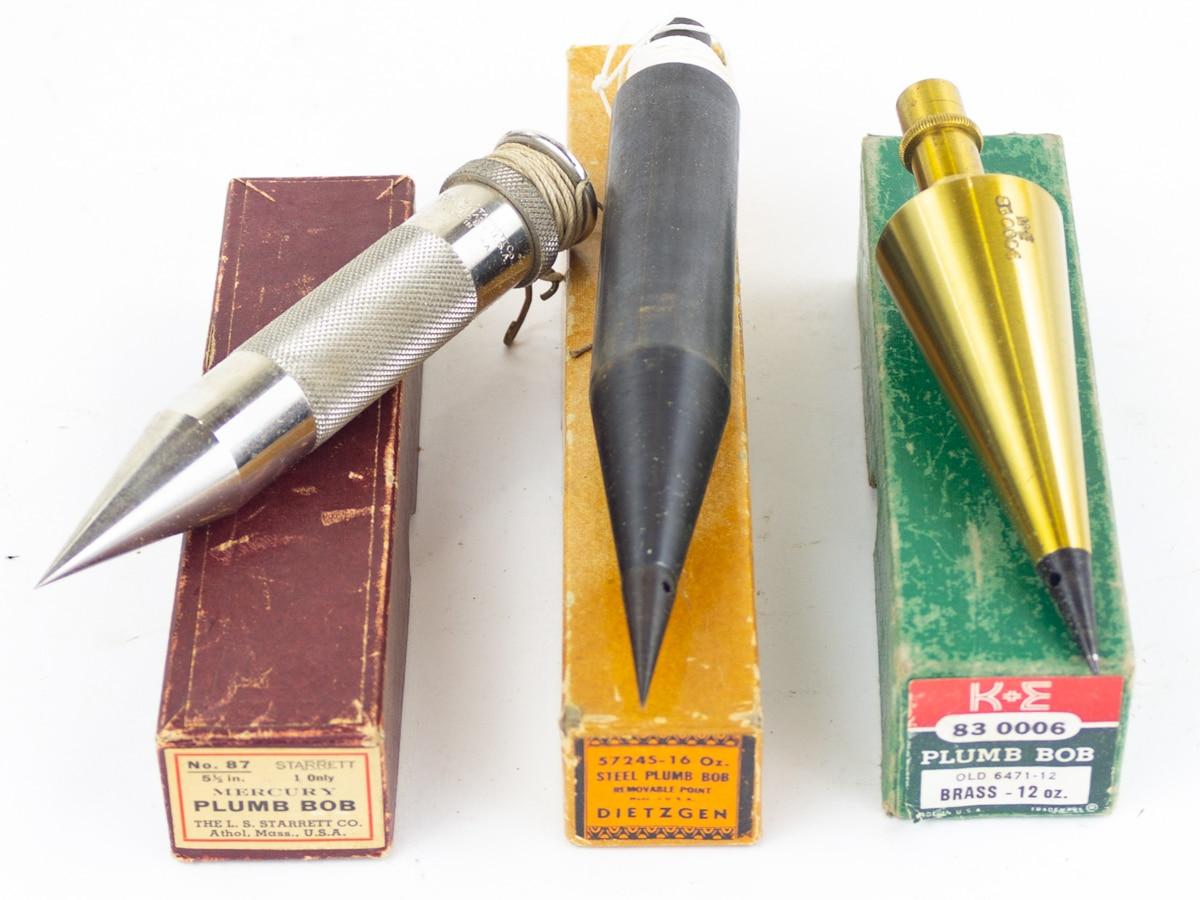 Brass or Steel Plumb Bobs